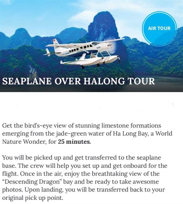 SeaPlane Over Halong Tour