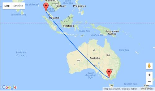 Return Flights Melbourne to Phuket