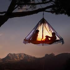A night in a tree tent
