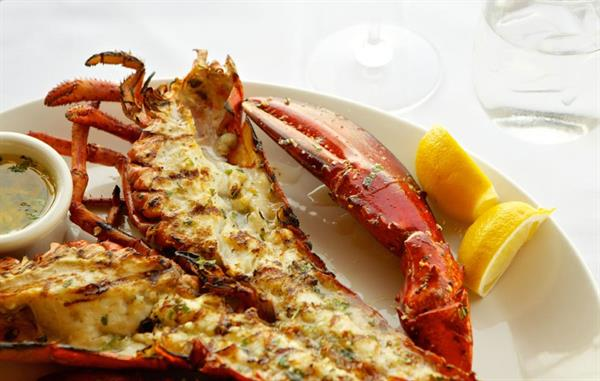Lunch for to at The Lobster on Santa Monica Pier