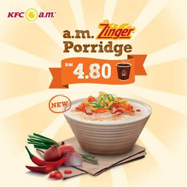 KFC Zinger Porridge Meal