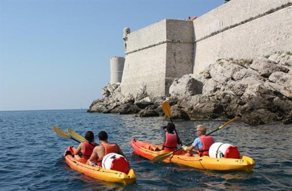 Sea kayaking around Dubrovnik