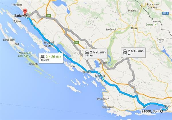Coast road trip - Split to Zadar