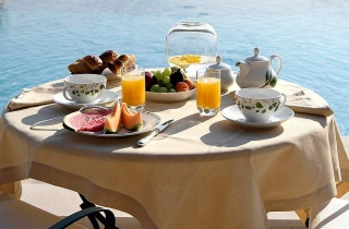 Coffee and breakfast in Dubrovnik