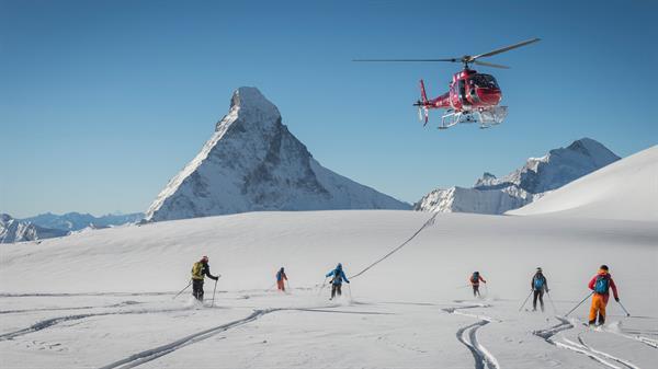 Heli Skiing the Swisse Alps