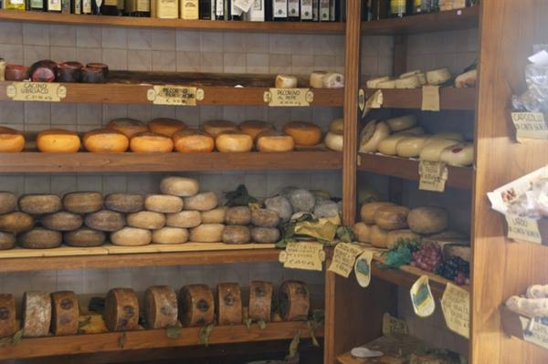 Assortment of local cheeses