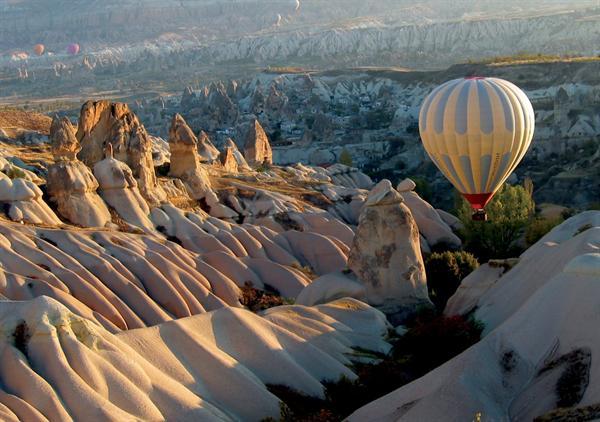 Balloon ride over Cappadocia at dawn
