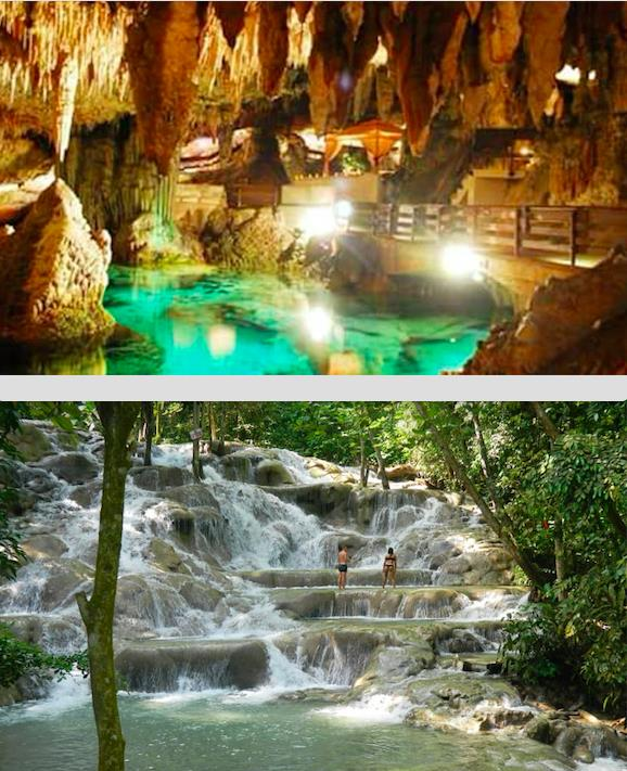 Green Grotto Caves & Dunn River Falls Combined Tour