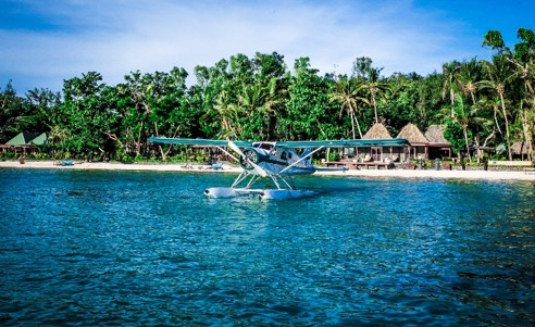Seaplane transfer between islands