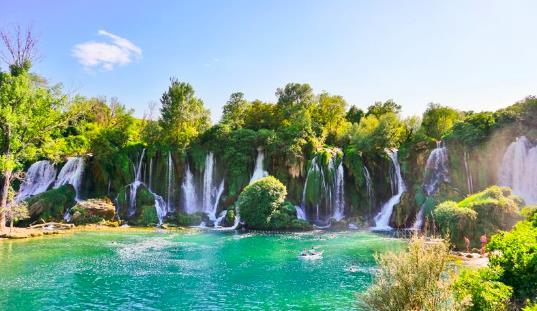 Picnic at a Waterfall, Bosnia
