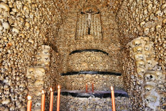 Admire the Chapel Made of Human Bones in Portugal