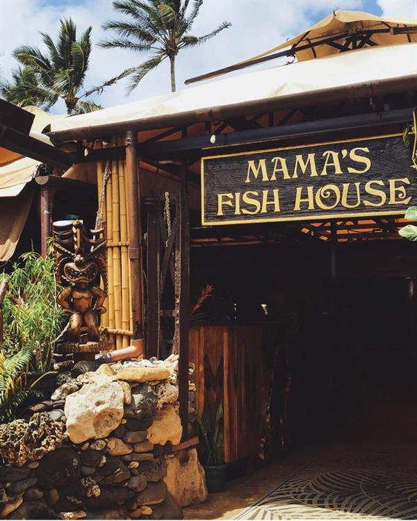 Seafood dinner at Mama's Fish House