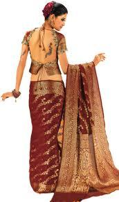 An Indian Sari (Traditional Indian clothing - Female)