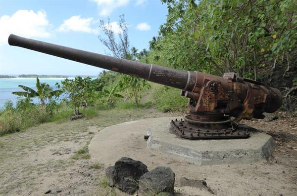 Bora Bora 4WD island tour. It involves WWII guns - Wayne is def keen!