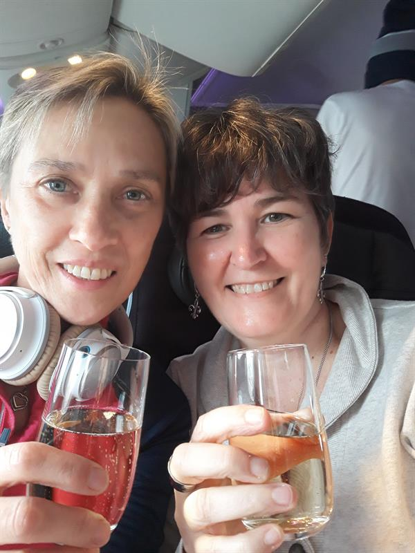 Champagne on the Plane