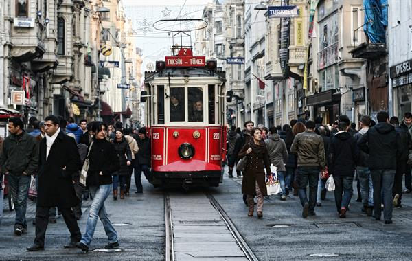 Lunch and souvenir shopping at Istiklal Caddesi