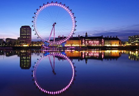 London Eye with Champagne