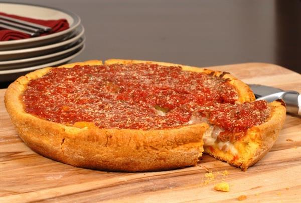 deep dish pizza dinner