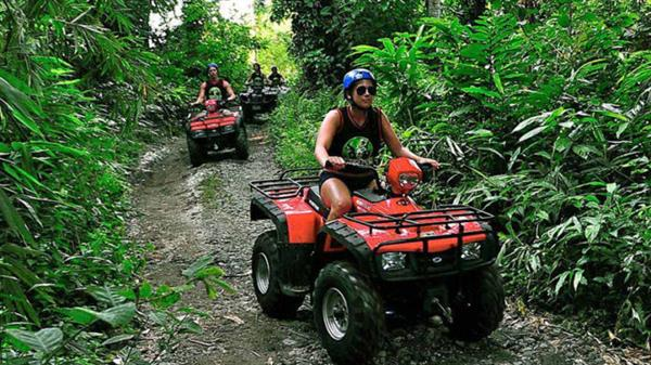 Quad bike adventure in the jungle