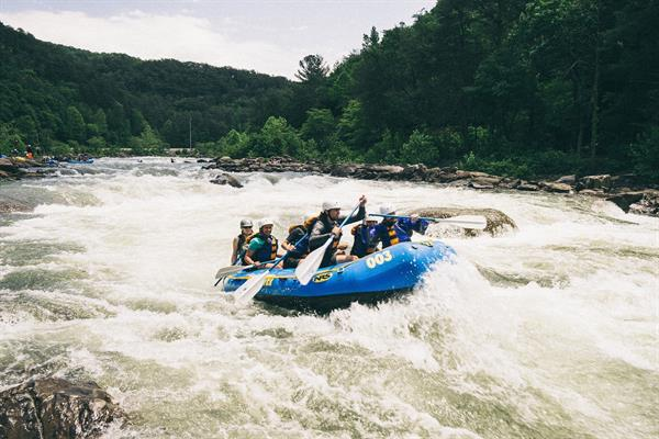 White-water rafting in Pucon