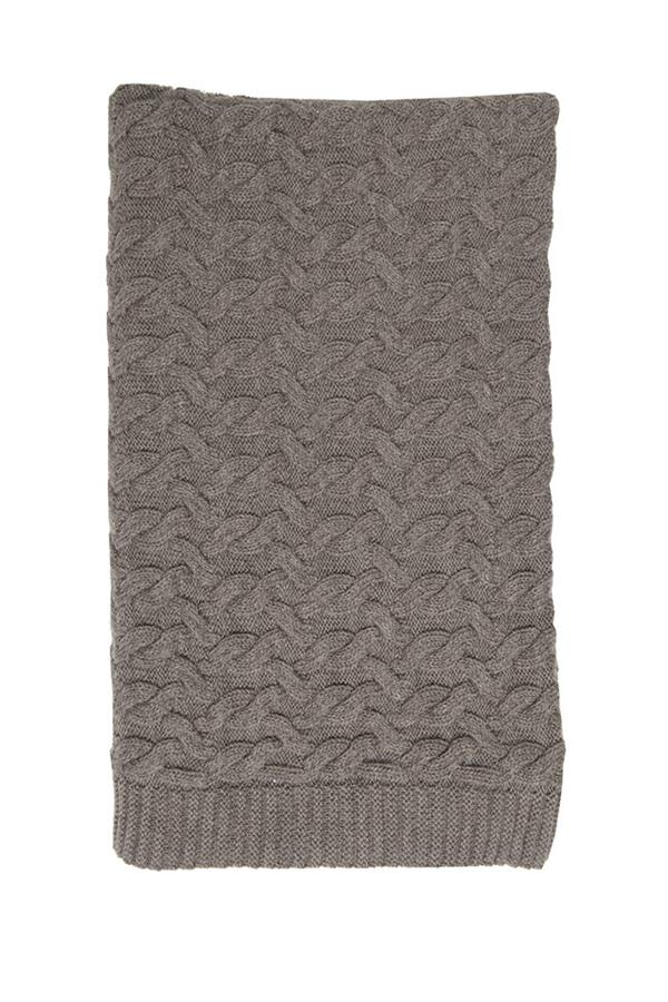 Isaac Merino Cable Blanket