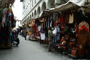 Shopping in the Florence Leather Markets