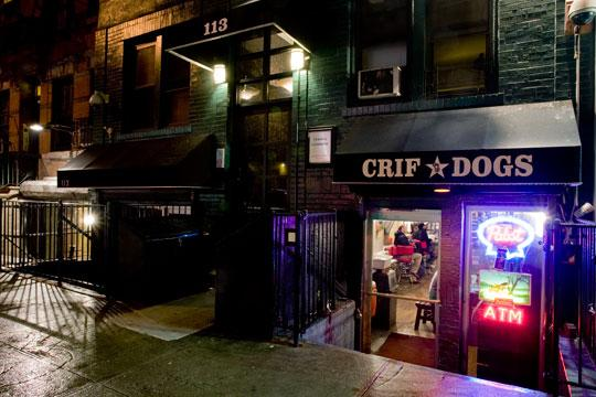 Criff Hot Dogs and entrance to the Please Don't Tell bar