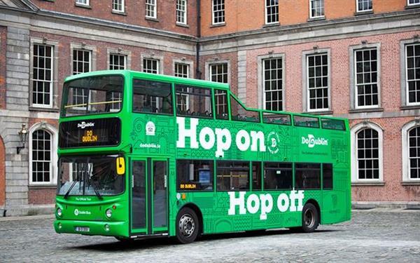 2 Dublin Hop-on/Hop-off Bus Passes