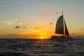 Sunset Catamran sailing in Waikiki