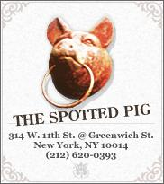 Dinner for two at The Spotted Pig