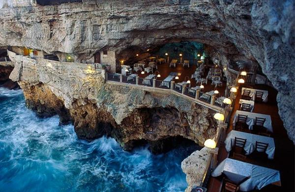 Dinner at Grotto Palazzese Restaurant