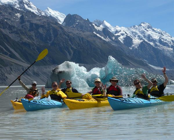 Mount Cook Glacier Kayaking