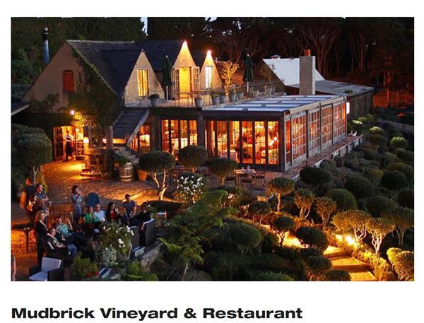 Dinner at Mudbrick Winery