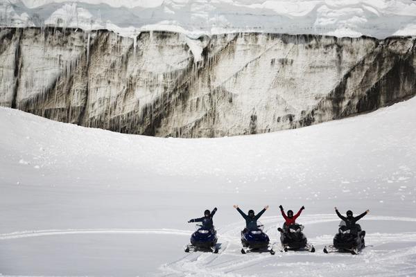 Snowmobile Adventure on Langjökull Glacier
