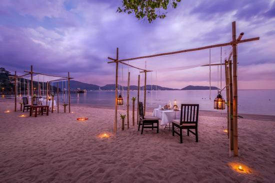 Dinner on the beach at Phuket