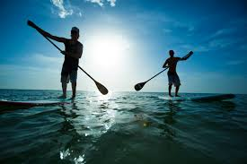 An afternoon of paddle boarding
