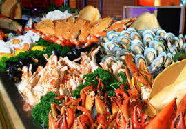 Fresh seafood lunch