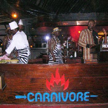 Dinner at The Carnivore Restaurant Nairobi