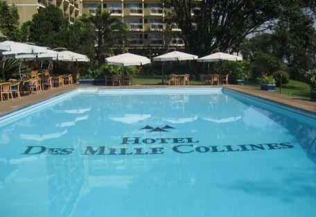 Cocktails by the swimming pool at Hotel des Mille Collines
