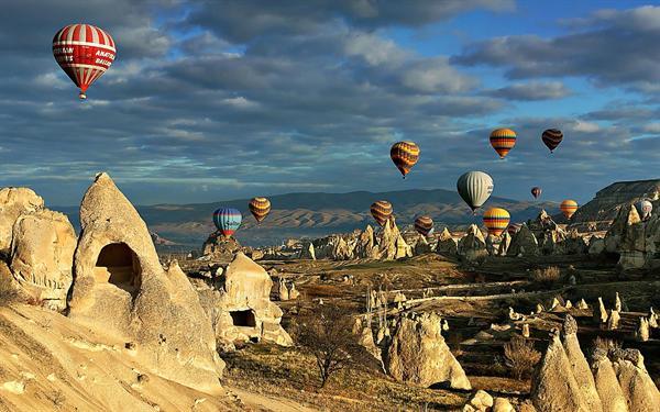 3. Cappadocia - Hot air balloon  ride over the 'Fairy Chimney's'