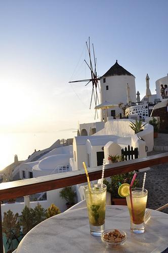 2. Santorini - Cocktails on a cliff