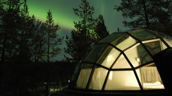 1 night in a glass igloo
