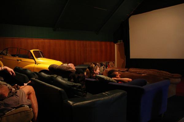 Movie and a meal at Cinema Paradiso, Lake Wanaka
