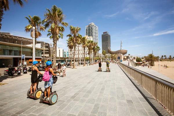 Segway tour along La Barcelonetta- each