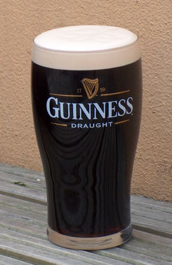 Drinking Guinness in Ireland