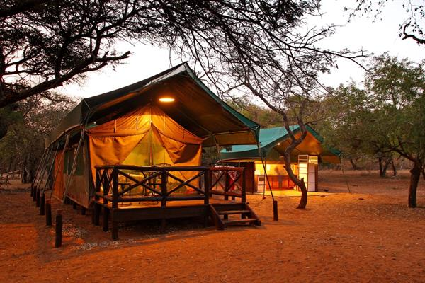 Night in tented camp