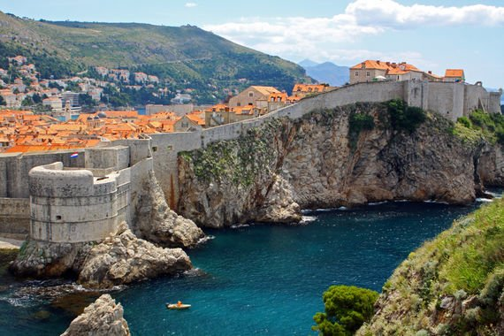 Entrance to the city walls (Dubrovnik)