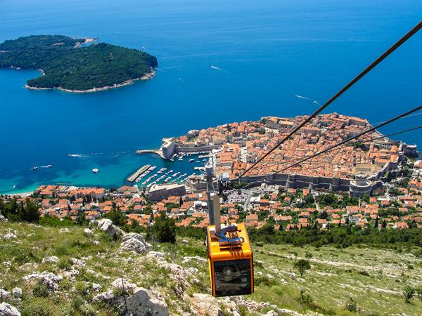 Cable car trip to Mt Srd (Dubrovnik)
