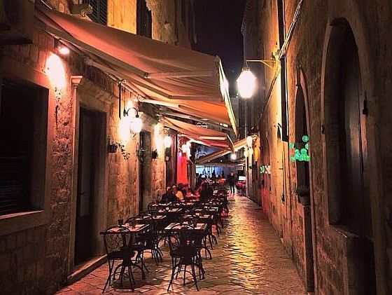 Meal at Zuzori (Dubrovnik)