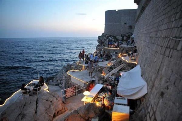 Drinks at Buza (Dubrovnik)